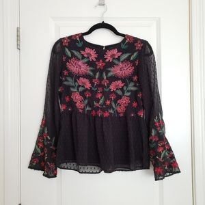 American Eagle Swiss Dot Blouse